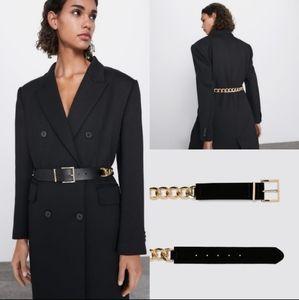 Zara Accessories - Velvet chain belt